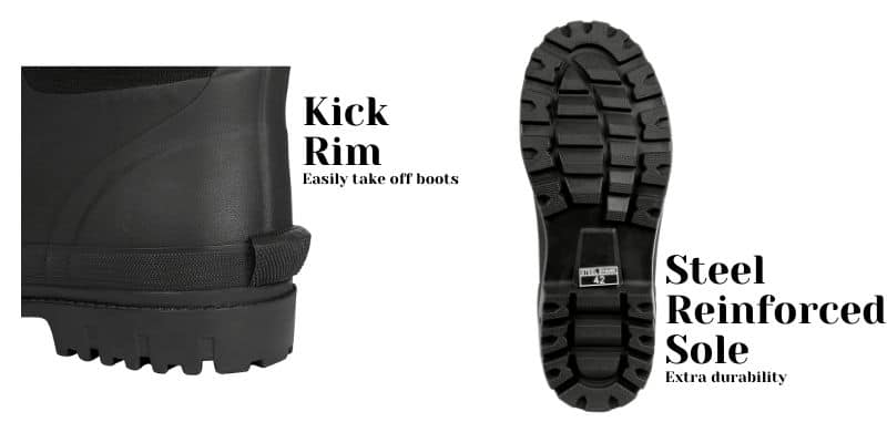 Rydal Wellies - Kick Rim and Sole